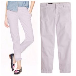 •J. CREW• Lilac Cotton Scout Chino Pant City Fit